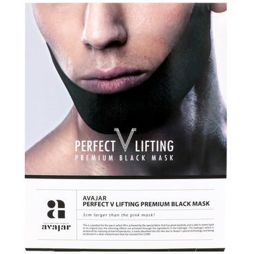 Avajar, Perfect V Lifting Premium Black Mask, 1 Mask