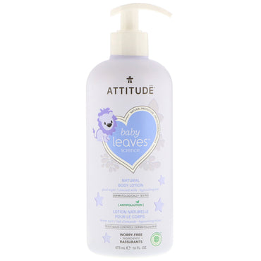 ATTITUDE Baby Leaves Science Natural Body Lotion Almond Milk 16 fl oz (473 ml)