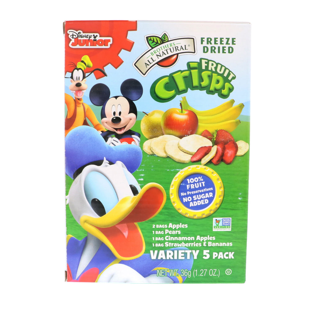 Brothers-All-Natural Fruit Crisps Disney Junior Variety Pack 5 Single Serve Pack