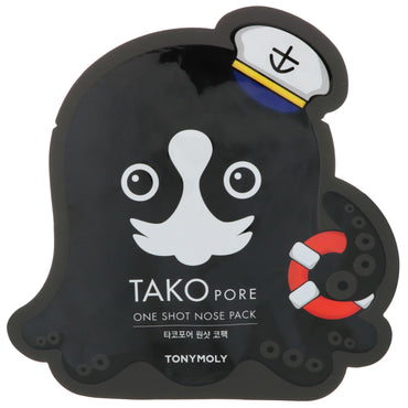 Tony Moly, Tako Pore, One Shot Nose Pack, 1 Sheet
