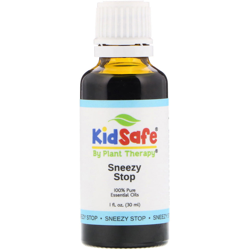 Plant Therapy, KidSafe, 100% Pure Essential Oils, Sneezy Stop, 1 fl oz (30 ml)