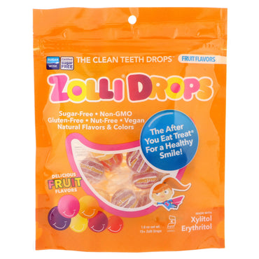 Zollipops  Zolli Drops The Clean Teeth Drops Fruit Flavors 15+ Zolli Drops 1.6 oz
