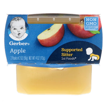 Gerber 1st Foods Apple 2 Pack 2 oz (56 g) Each