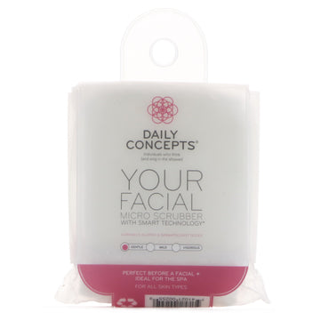 Daily Concepts, Your Facial Micro Scrubber, Gentle, 1 Scrubber