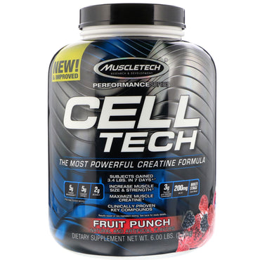 Muscletech, Cell Tech, Fruit Punch, 6.00 lb (2.72 kg)