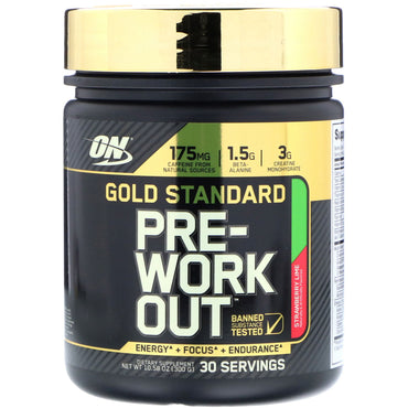 Optimum Nutrition, Gold Standard, Pre-Workout, Strawberry Lime, 10.58 oz (300 g)