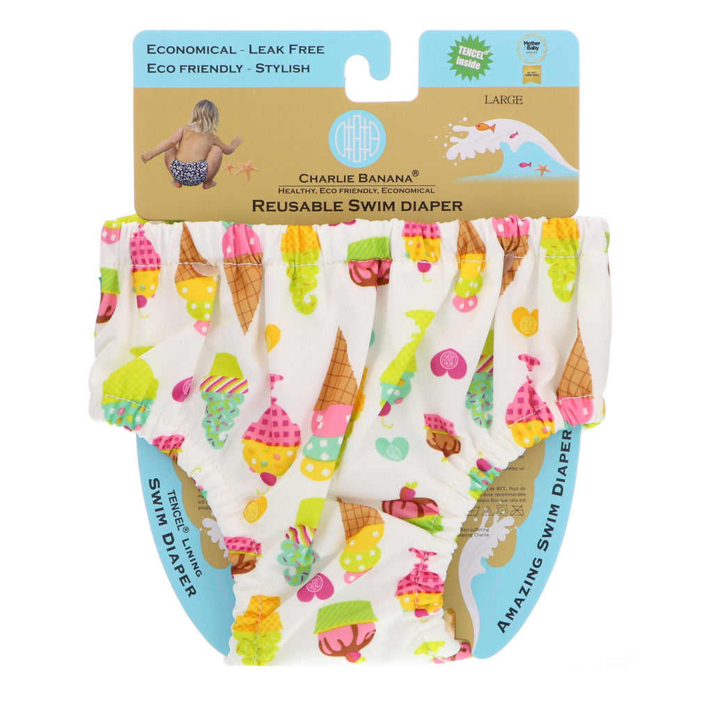 Charlie Banana, Reusable Swim Diaper, Gelato, Large, 1 Diaper