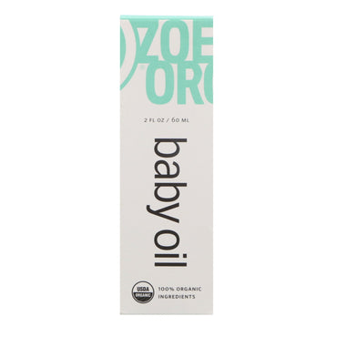Zoe Organics, Organic Baby Oil, 2 fl oz (60 ml)