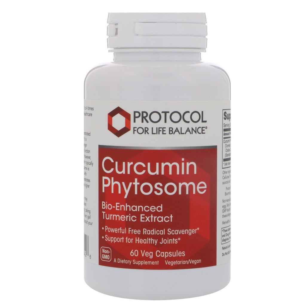 Protocol for Life Balance, Curcumin Phytosome, Bio-Enhanced Turmeric Extract, 500 mg, 60 Veg Capsules