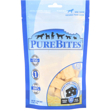 Pure Bites, Freeze Dried, Dog Treats, Cheddar Cheese, 4.2 oz (120 g)