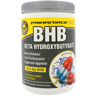 Primaforce, BHB, Beta Hydroxybutyrate, Patriot Pop, 8.9 oz (255 g)