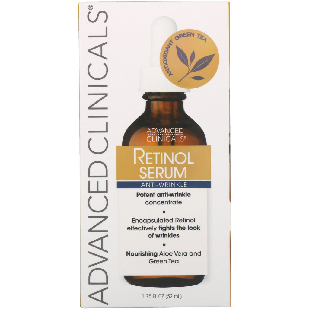 Advanced Clinicals, Retinol Serum, Anti-Wrinkle, 1.75 fl oz (52 ml)