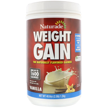Naturade, Weight Gain, Vanilla, 40.6 oz (2.5 lb)