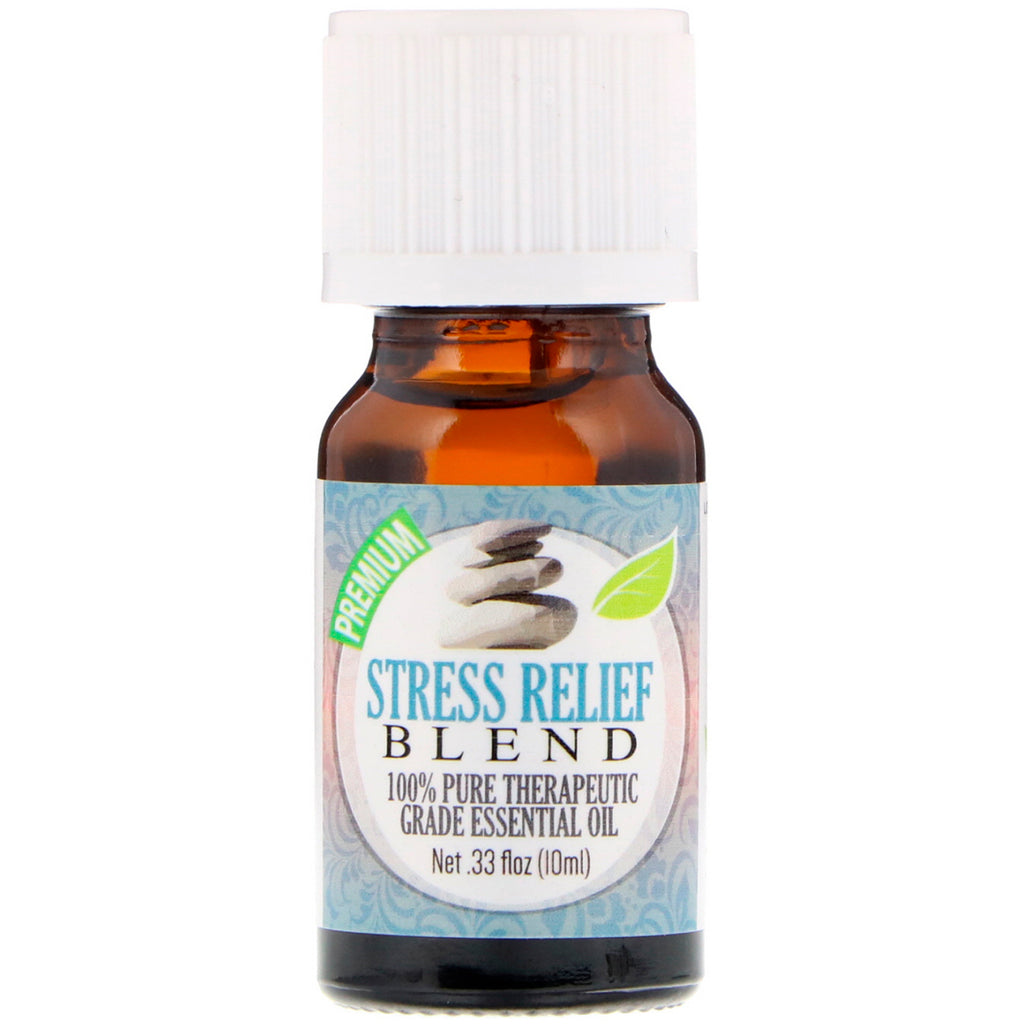 Healing Solutions 100% Pure Therapeutic Grade Essential Oil Stress Relief Blend 0.33 fl oz (10 ml)