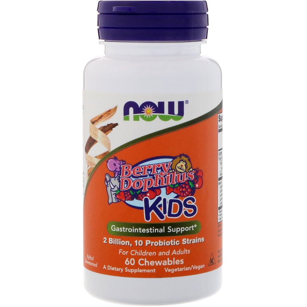 Now Foods, BerryDophilus, Kids, 2 Billion, 60 Chewables