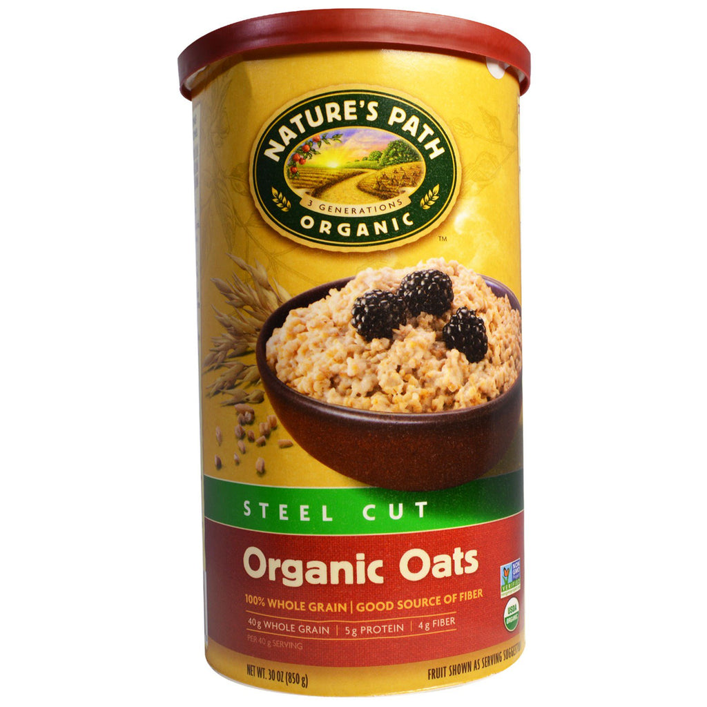 Country Choice Organic, Organic Oats, Steel Cut, 30 oz (850 g)