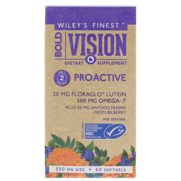 Wiley's Finest Bold Vision Proactive 550 mg 60 Softgels