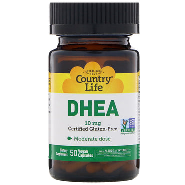 Country Life, DHEA, 10 mg, 50 Vegan Capsules