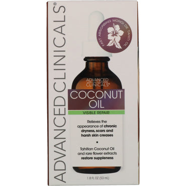 Advanced Clinicals, Coconut, Visible Repair Oil, 1.8 fl oz (53 ml)