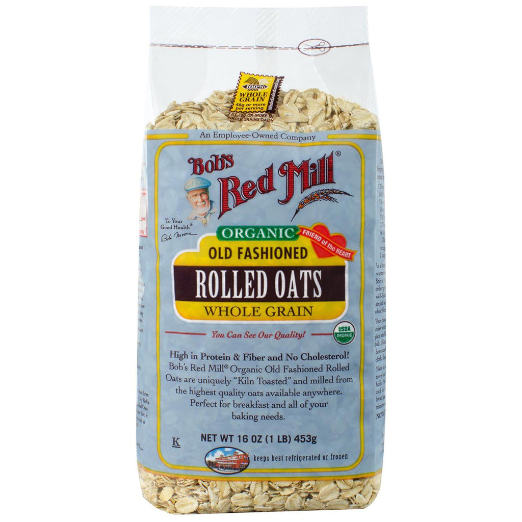 Bob's Red Mill, Organic Old Fashioned Rolled Oats, Whole Grain, 16 oz (453 g)