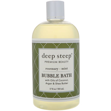 Deep Steep, Bubble Bath, Rosemary - Mint, 17 fl oz (503 ml)
