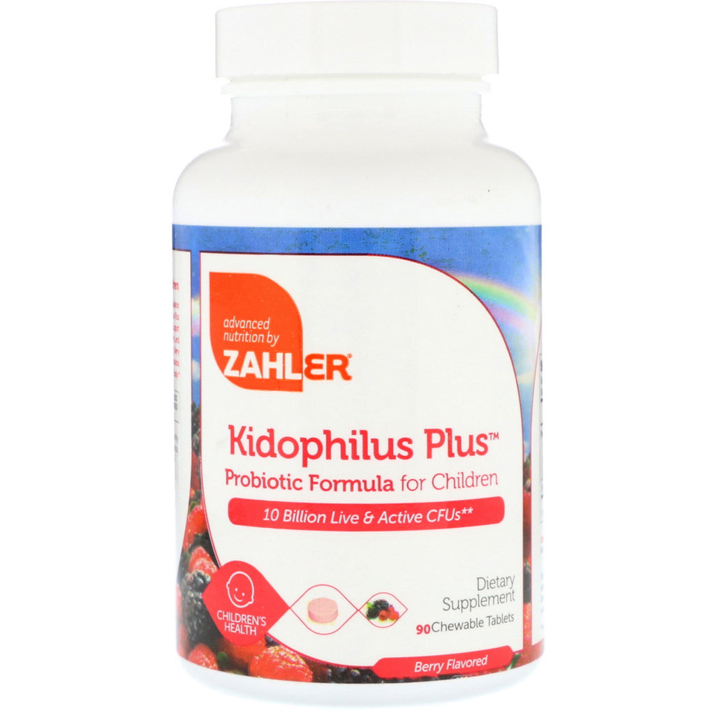 Zahler, Kidophilus Plus, Probiotic Formula For Children, Berry Flavored, 90 Chewable Tablets