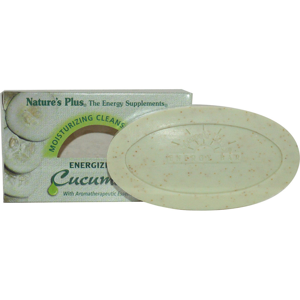 Nature's Plus, Moisturizing Cleansing Bar, Energizing Cucumber, 3.5 oz (100 g)
