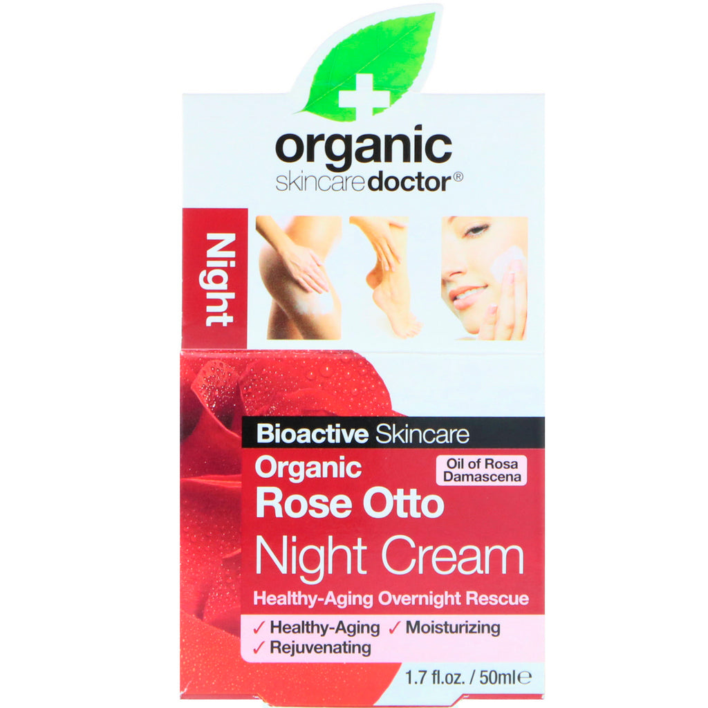 Organic Doctor, Organic Rose Otto Night Cream, 1.7 fl oz (50 ml)