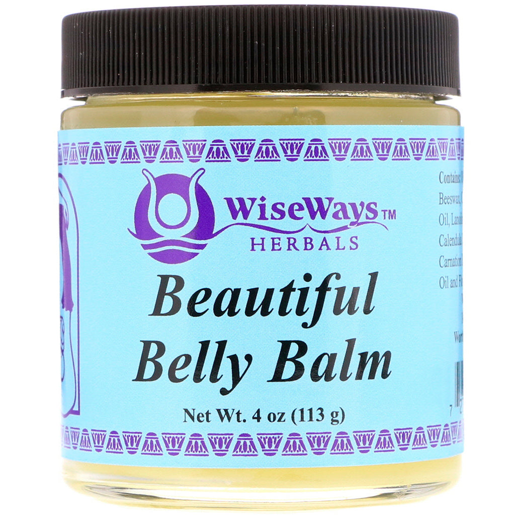 WiseWays Herbals LLC Beautiful Belly Balm 4 oz (113 g)