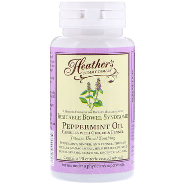 Heather's Tummy Care, Peppermint Oil, Irritable Bowel Syndrome, 90 Enteric Coated Softgels
