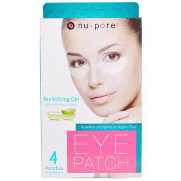 Nu-Pore, Revitalizing Gel Patches, With Aloe Vera Extract, 4 Patches
