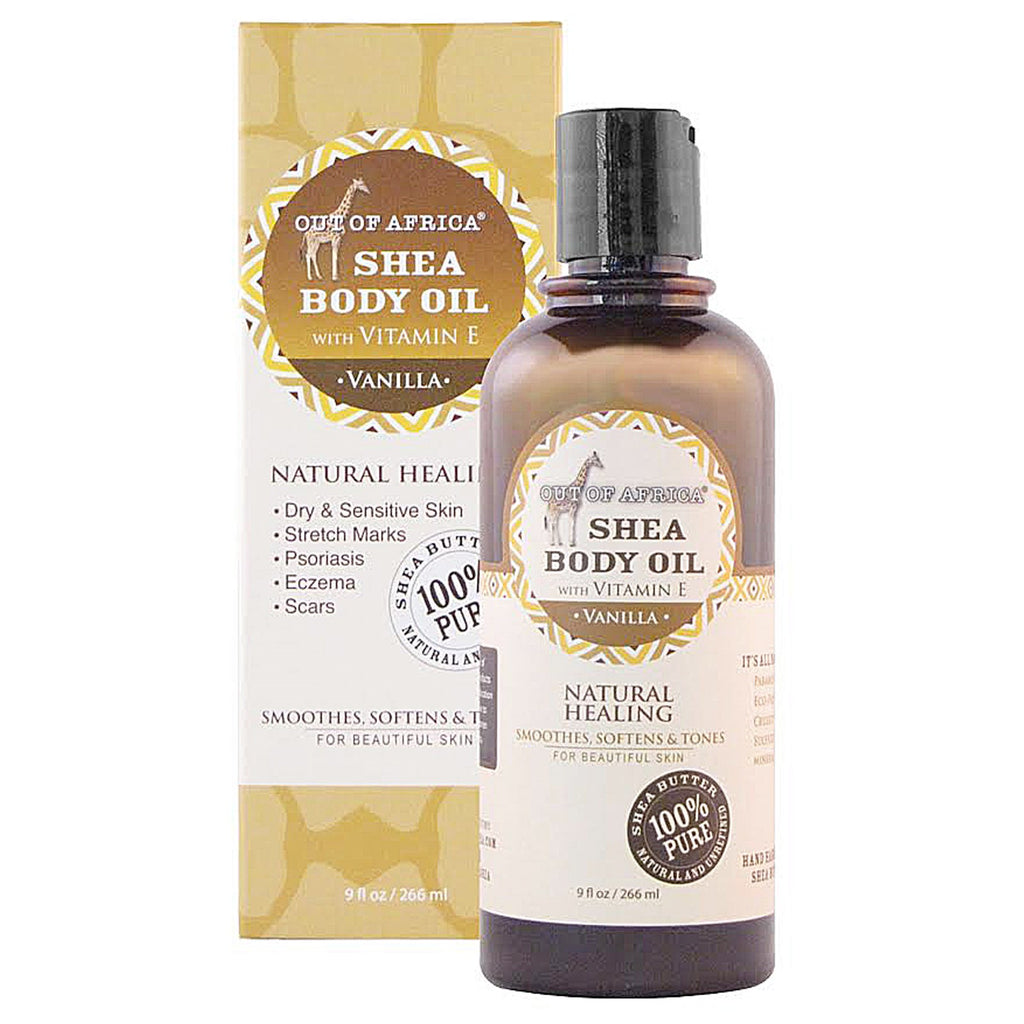 Out of Africa Shea Body Oil with Vitamin E Vanilla 9 fl oz (266 ml)
