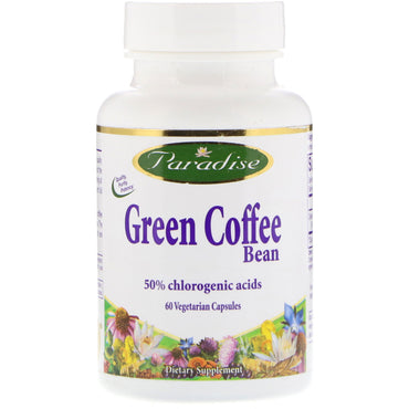 Paradise Herbs, Green Coffee Bean, 60 Vegetarian Capsules