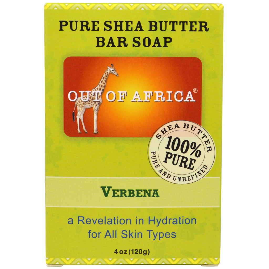 Out of Africa, Pure Shea Butter Bar Soap, Verbena, 4 oz (120 g)