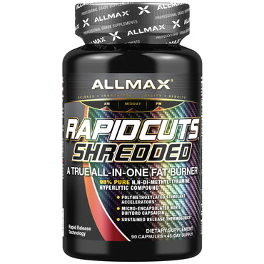ALLMAX Nutrition, Rapidcuts Shredded, A True All-In-One Fat Burner, 90 Capsules