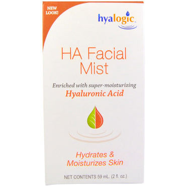 Hyalogic LLC, HA Facial Mist with Hyaluronic Acid, 2 oz (59 ml)