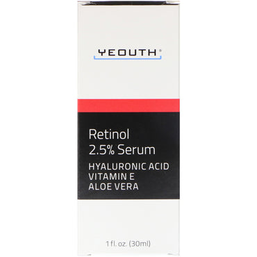 Yeouth, Retinol, 2.5% Serum, 1 fl oz (30 ml)