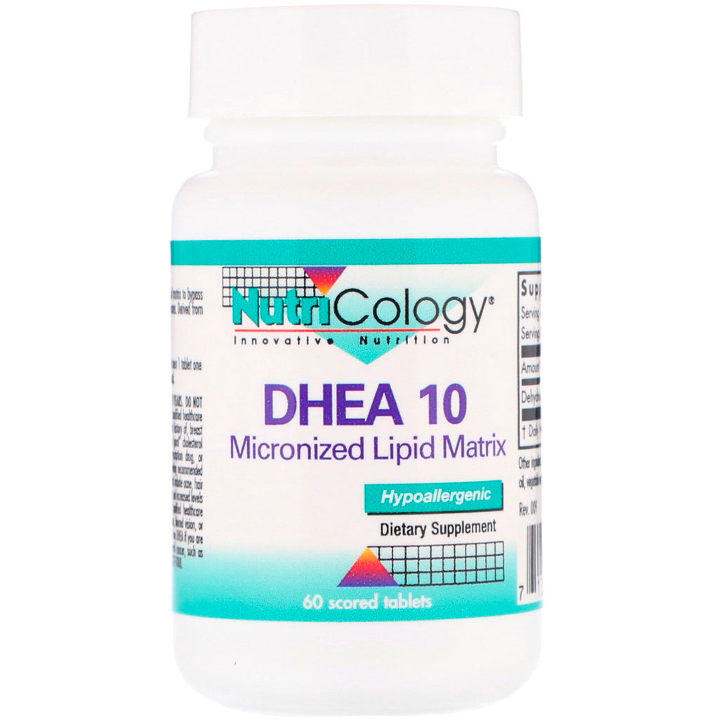 Nutricology, DHEA 10, Micronized Lipid Matrix, 60 Scored Tablets