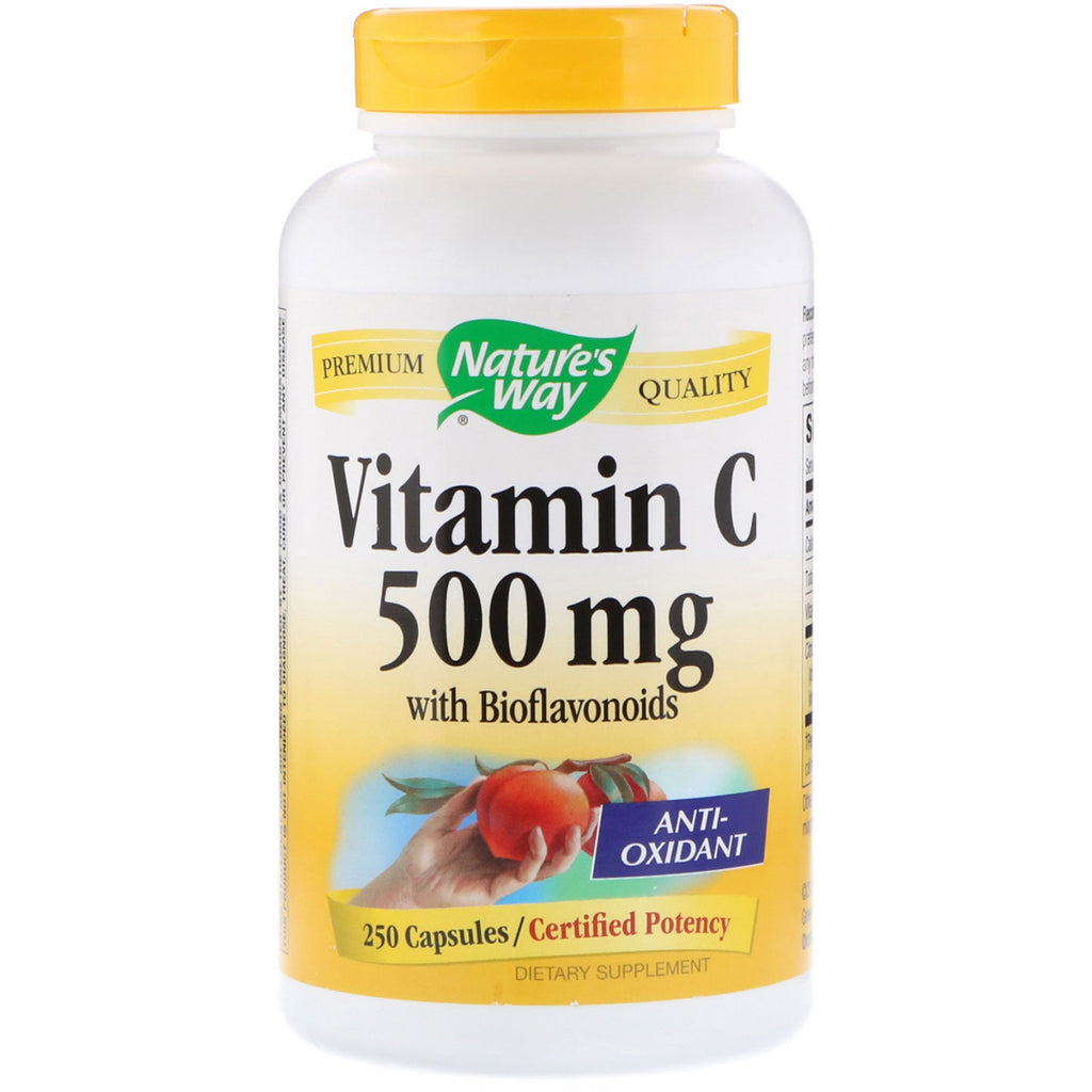 Nature's Way, Vitamin C with Bioflavonoids, 500 mg, 250 Capsules