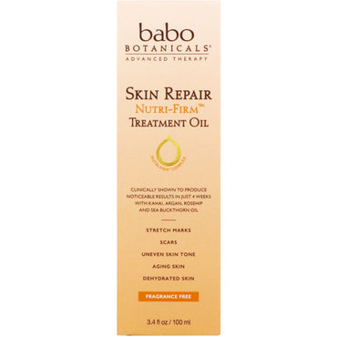 Babo Botanicals Skin Repair Nutri-Firm Treatment Oil 3.4 fl oz (100 ml)