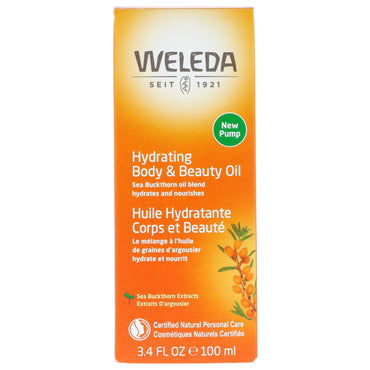 Weleda, Hydrating Body & Beauty Oil, Sea Buckthorn Extracts, 3.4 fl oz (100 ml)