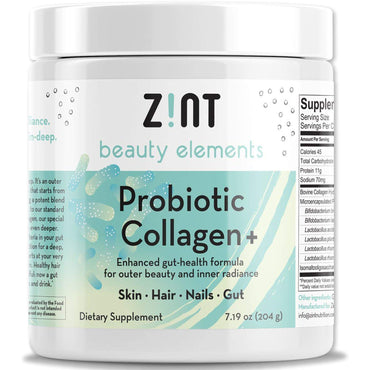 Zint, Probiotic Collagen +, For Skin, Hair, Nails, Gut, 7.19 oz (204 g)