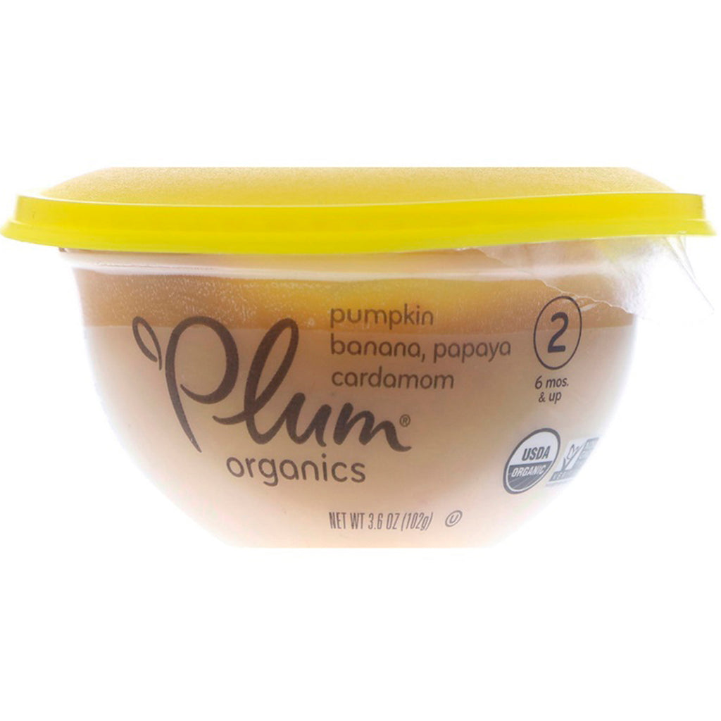Plum Organics Baby Bowl Stage 2 Pumpkin Banana Papaya & Cardamom 3.6 oz (102 g)