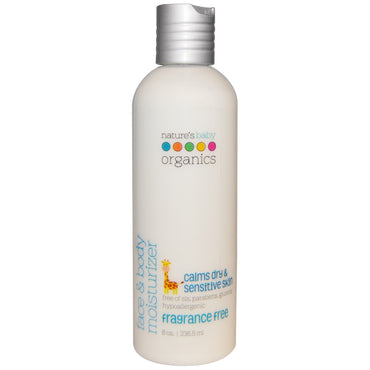 Nature's Baby Organics Face & Body Moisturizer Fragrance Free 8 oz (236.5 ml)