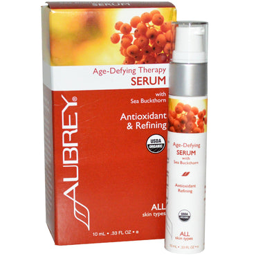 Aubrey Organics, Age Defying Therapy Serum, 0.33 fl oz (10 ml)