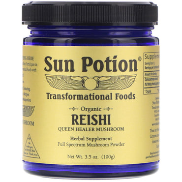 Sun Potion, Reishi Powder, Organic, 3.5 oz (100 g)