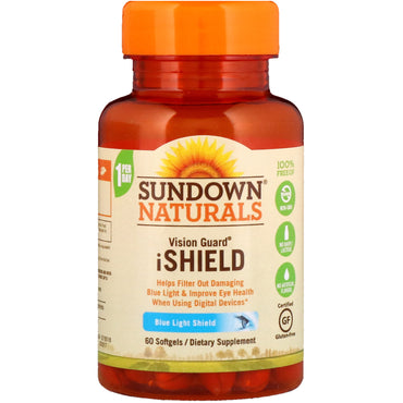 Sundown Naturals, Vision Guard iShield, 60 Softgels