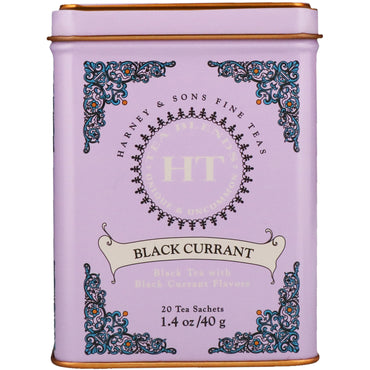 Harney & Sons, Black Currant Tea, 20 Tea Sachets, 1.4 oz (40 g)