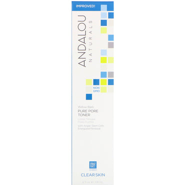 Andalou Naturals, Pure Pore Toner, Willow Bark, 6 fl oz (178 ml)