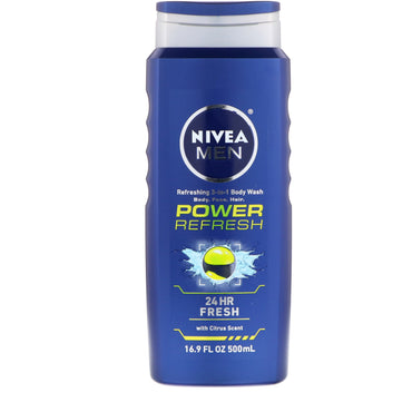 Nivea, Power Refresh, 3-in-1 Body Wash, 16.9 fl oz (500 ml)